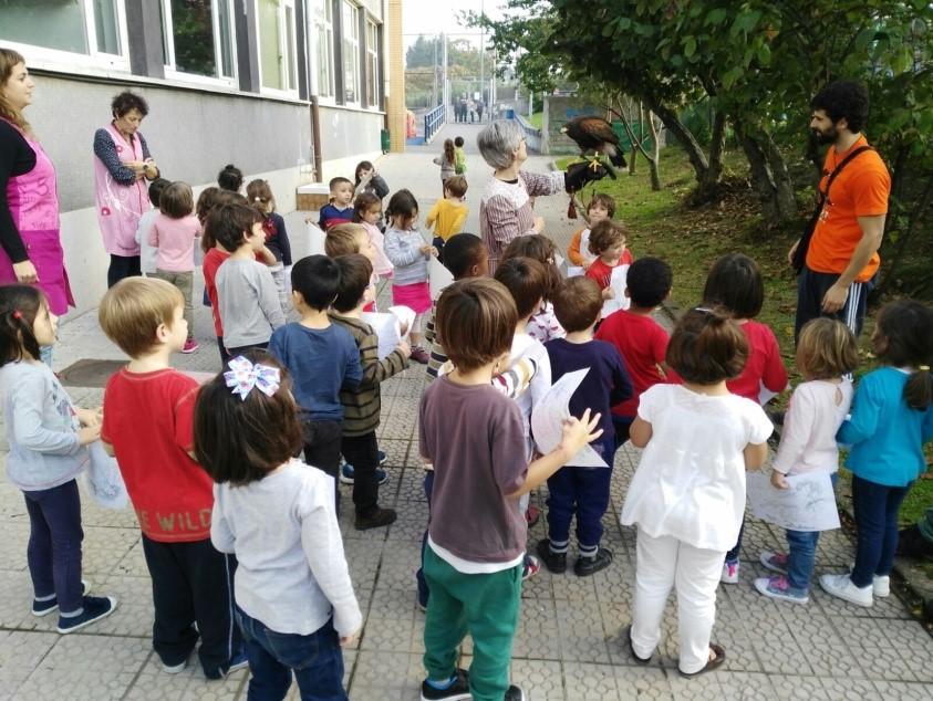 Educación diferente e innovadora con rapaces